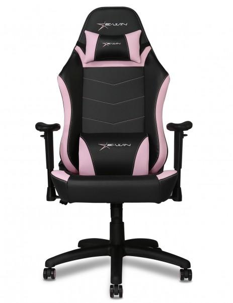 E-WIN 2.0 Pink Gaming Chair Gaming Desk Setup Bundle
