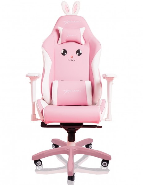 EWin Champion Series Ergonomic Computer Gaming Office Chair with Pillows, Pink Bunny - CPJ