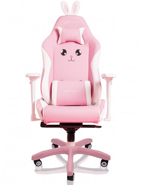 E-WIN 2.0 Pink Bunny Gaming Chair Gaming Desk Setup Bundle
