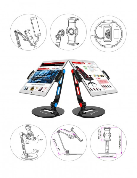 Ewin Adjustable Stand Holder for Tablet Mobile Device