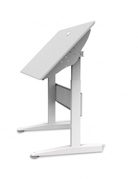 "E-WIN Pneumatic Sit-Stand And Tiltable Gaming Desk with 1"" Thick Curved Desktop - SRA"
