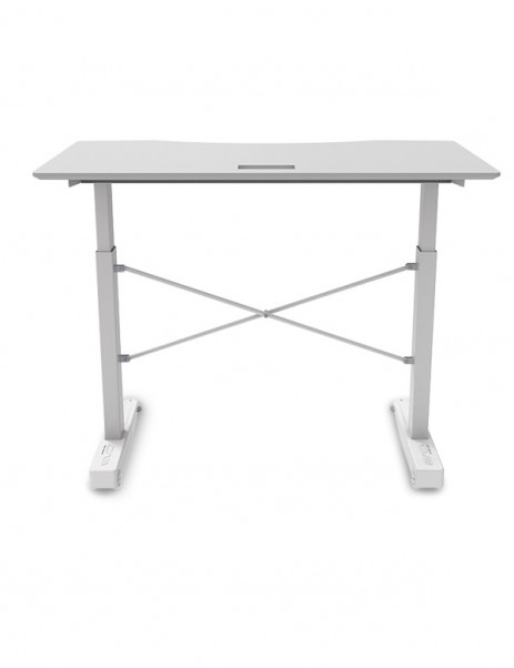 """E-WIN Pneumatic Height Adjustable Standing Gaming Desk with 1"""" Thick Curved Desktop - CSB"""